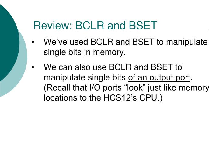Review: BCLR
