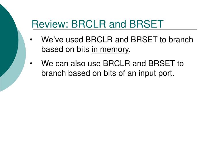 Review: BRCLR