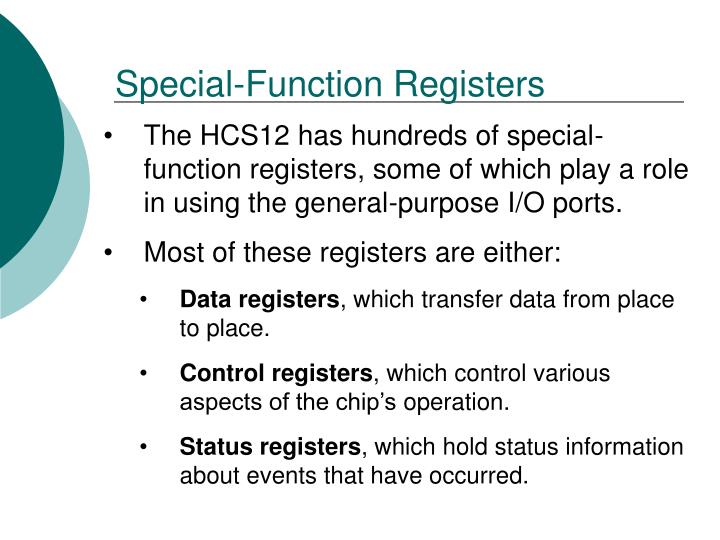 Special-Function Registers