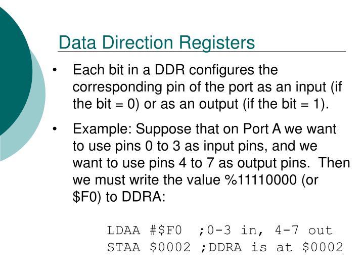 Data Direction Registers