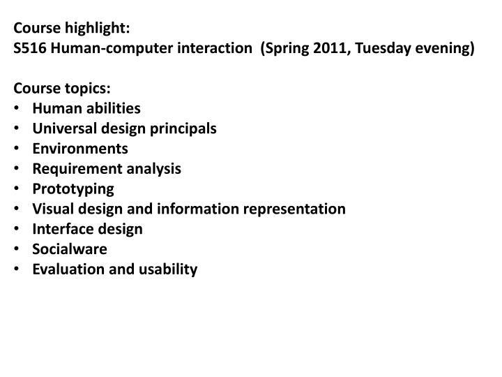 Course highlight: