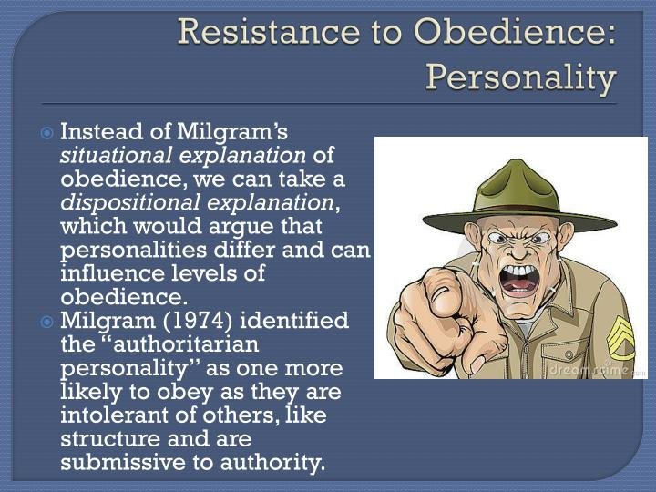 Resistance to Obedience: