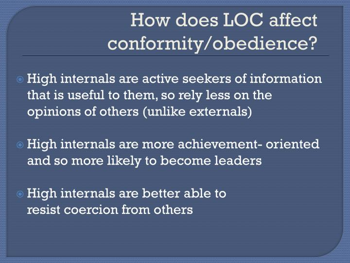 How does LOC affect