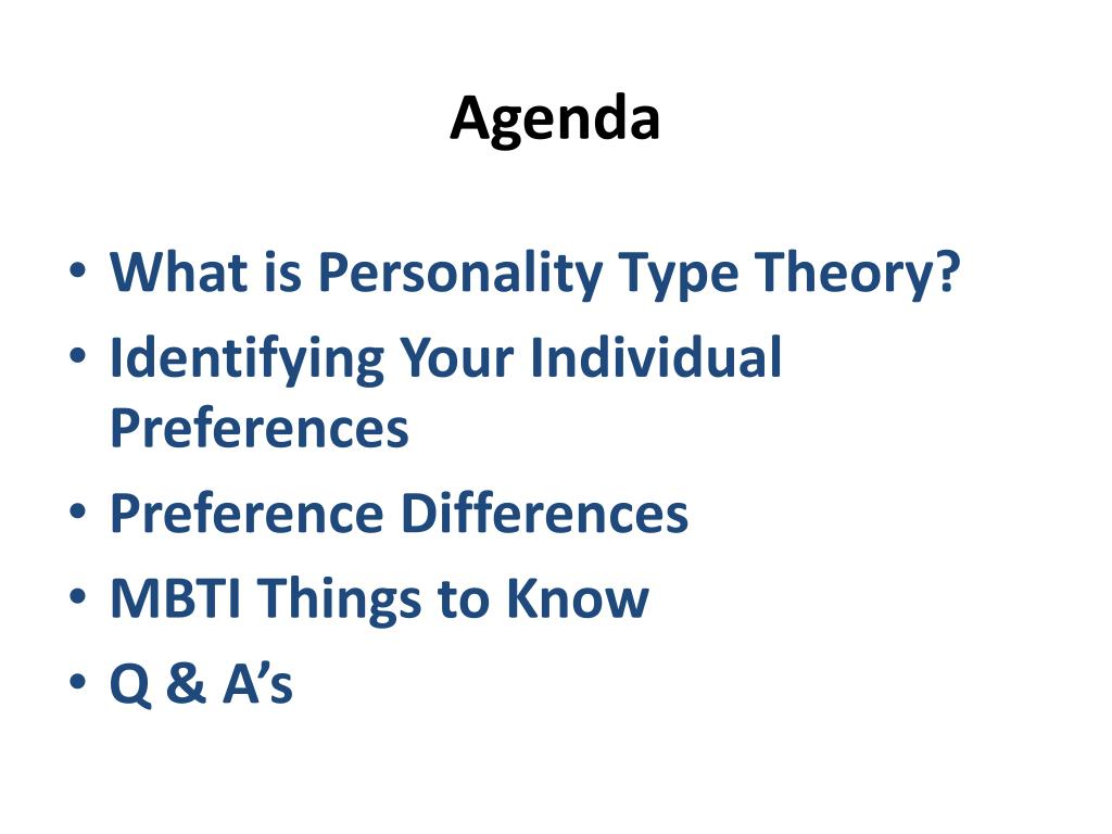 PPT - Myers Briggs Type Indicator PowerPoint Presentation