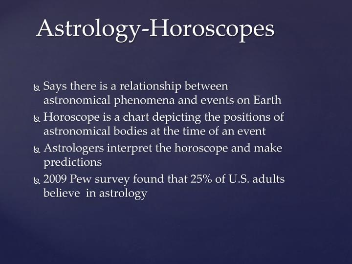 Says there is a relationship between astronomical phenomena and events on Earth
