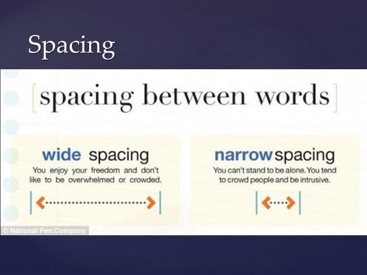 Spacing