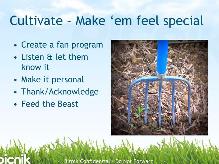 Cultivate – Make '