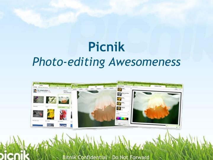 Picnik photo editing awesomeness