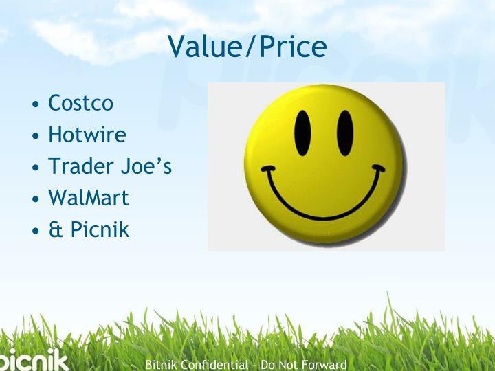 Value/Price