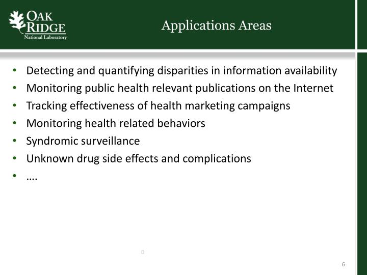 Applications Areas