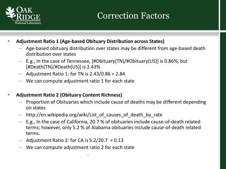 Correction Factors