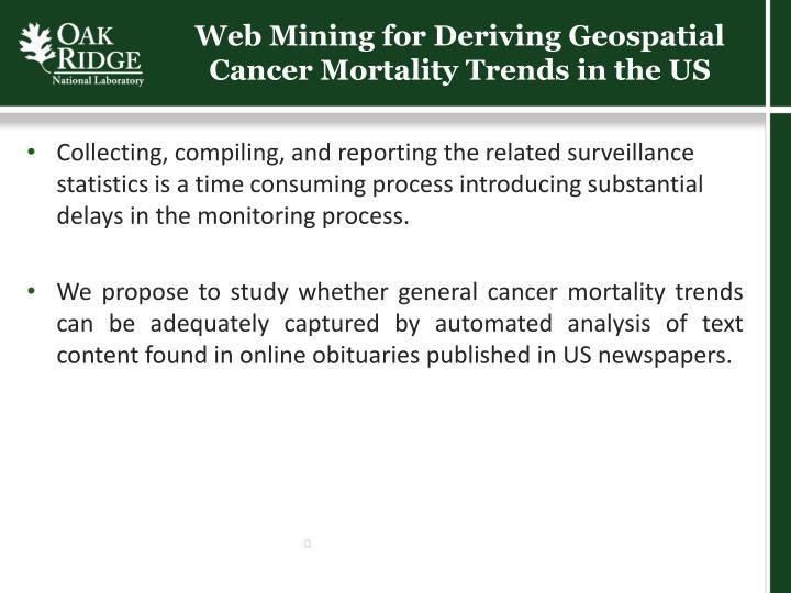 Web Mining for Deriving Geospatial