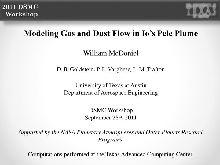 Modeling Gas and Dust Flow in Io's Pele Plume