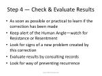 step 4 check evaluate results