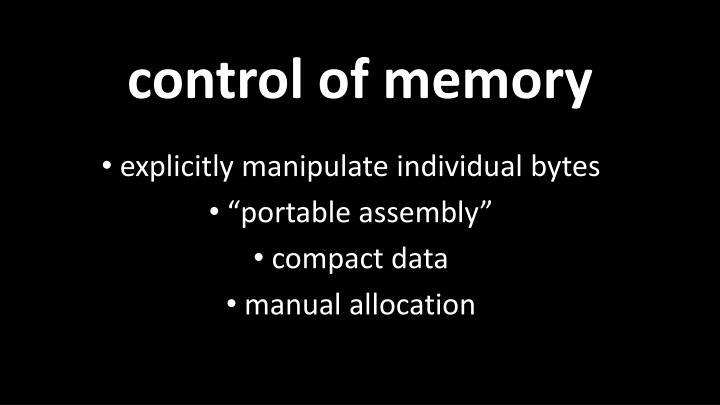 control of memory