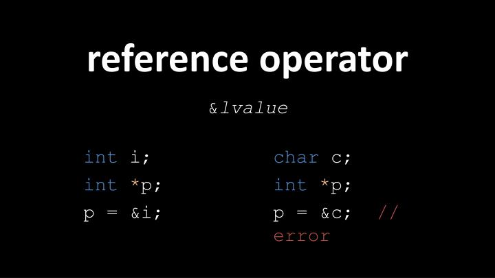 reference operator