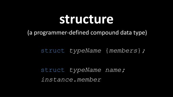 (a programmer-defined compound data type)