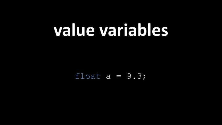 value variables