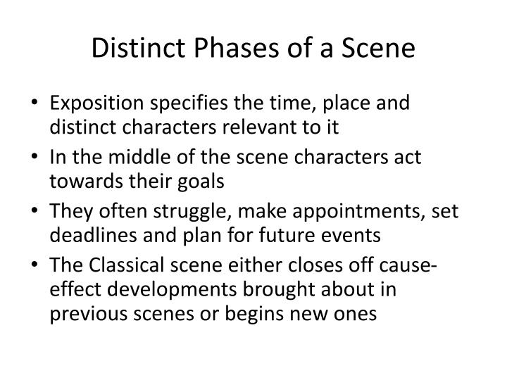 Distinct Phases of a Scene