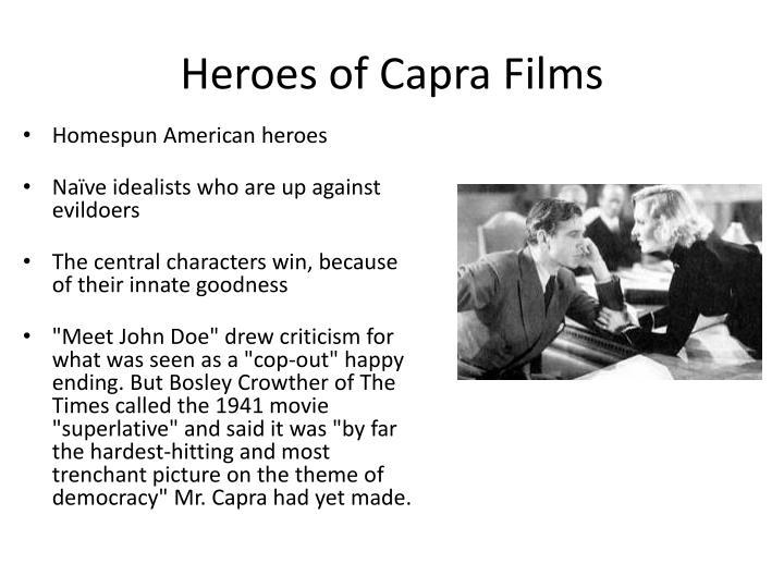Heroes of Capra Films