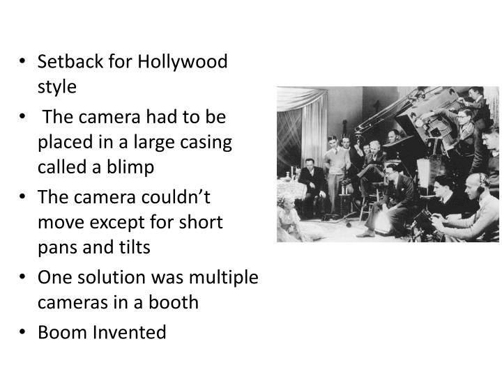 Setback for Hollywood style