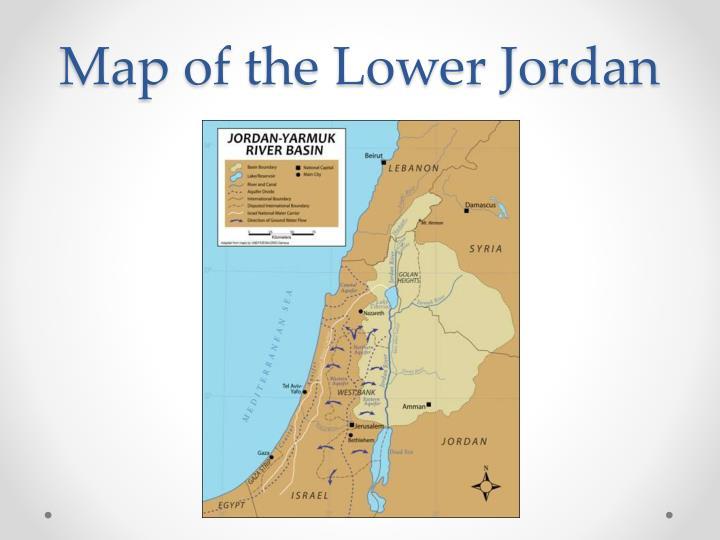 Map of the lower jordan