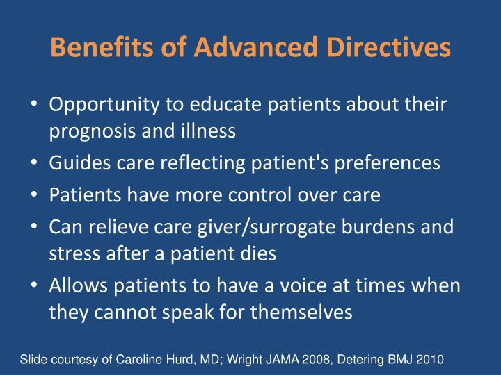 Benefits of Advanced Directives