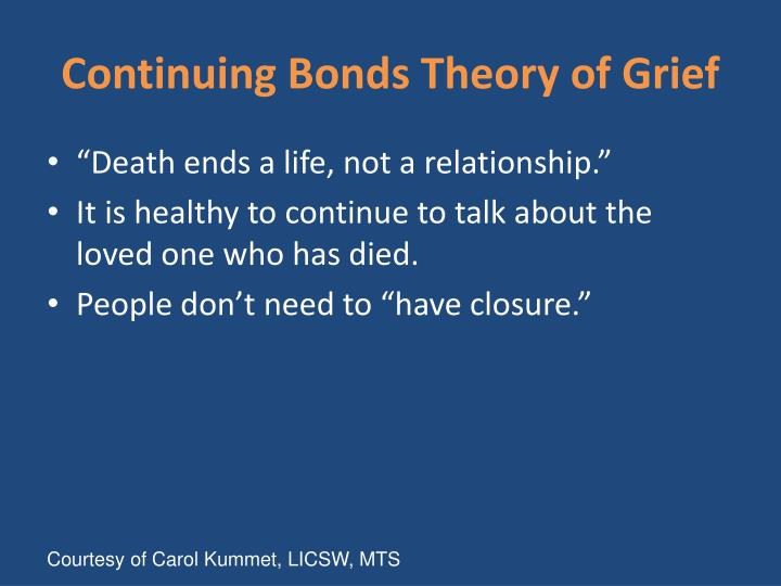 Continuing Bonds Theory of Grief
