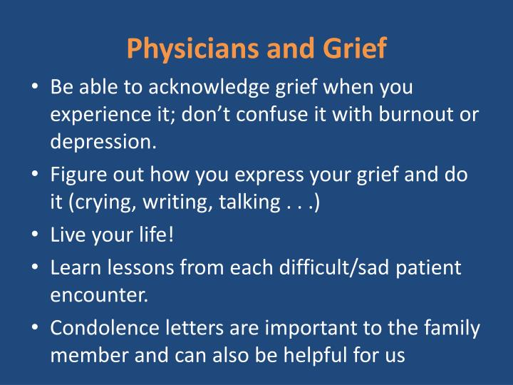 Physicians and Grief