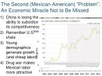 the second mexican american problem an economic miracle not to be missed