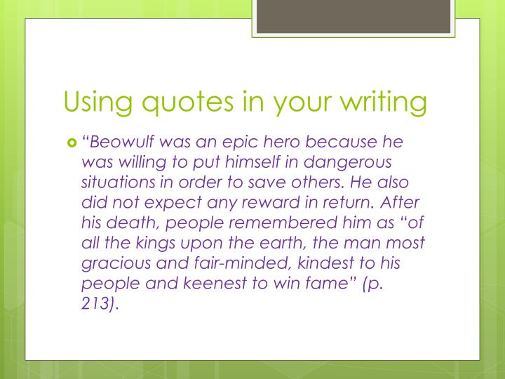 beowulf heroic traits quotes