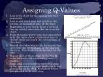assigning q values