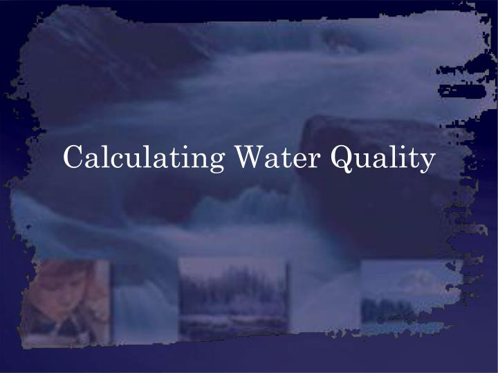 calculating water quality n.