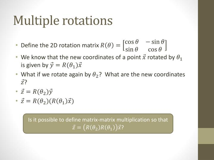 Multiple rotations