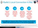 radio s local connection is key