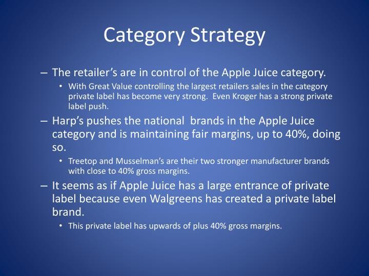 Category Strategy
