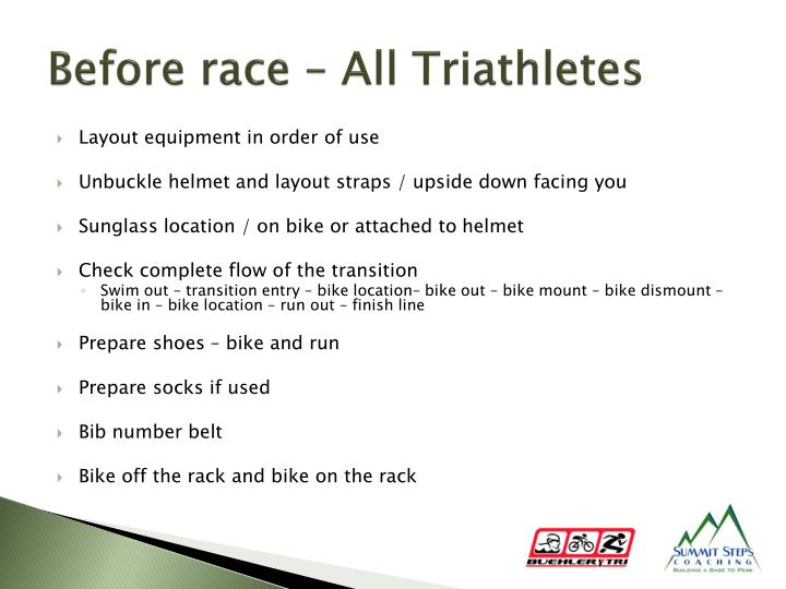 Before race – All Triathletes