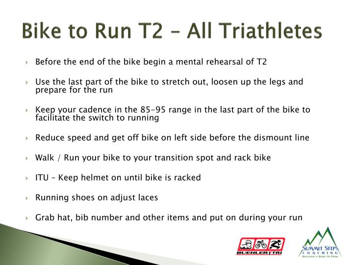 Bike to Run T2 – All Triathletes