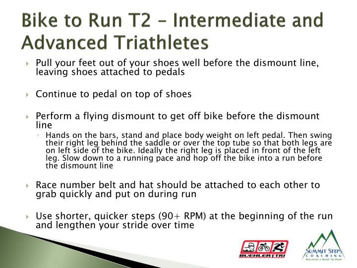 Bike to Run T2 – Intermediate and Advanced Triathletes