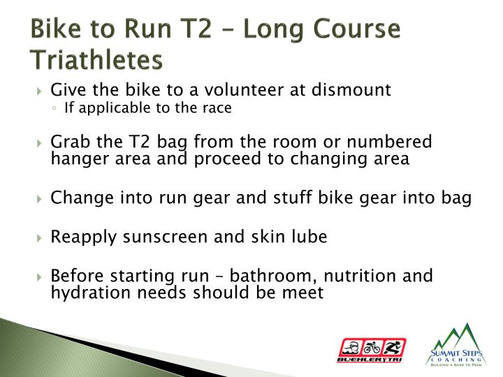 Bike to Run T2 – Long Course Triathletes