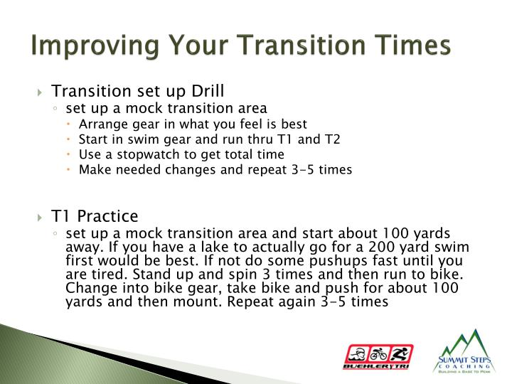Improving Your Transition Times