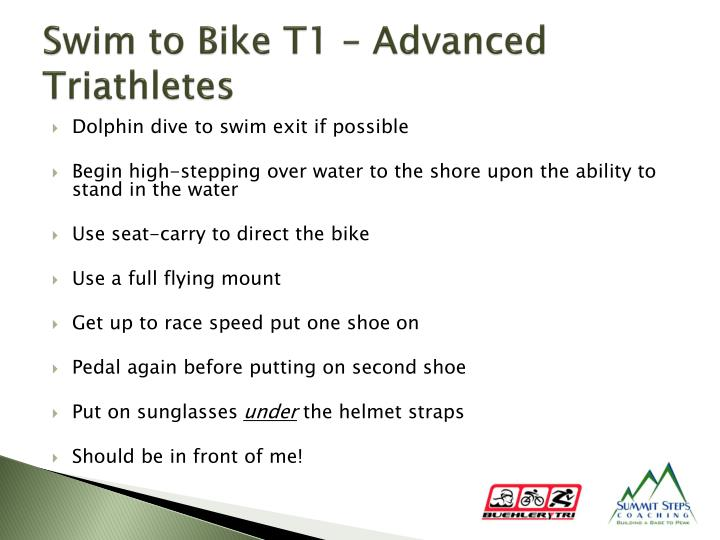Swim to Bike T1 – Advanced Triathletes
