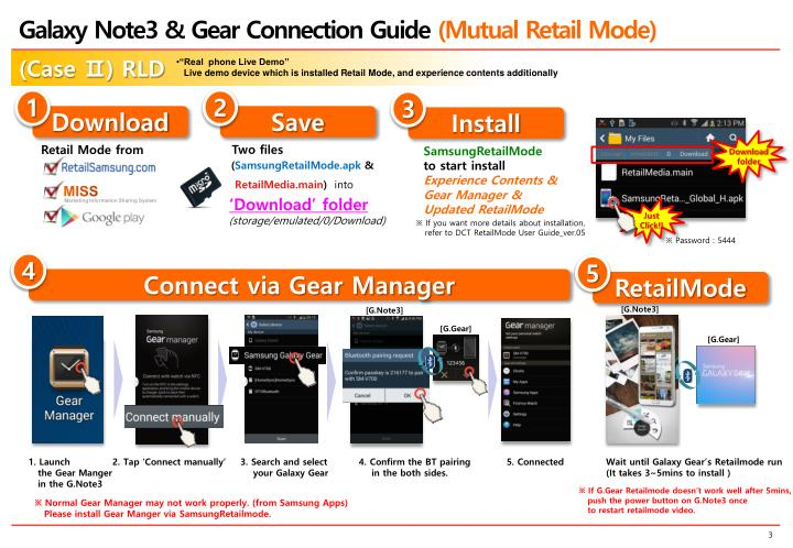 Galaxy Note3 & Gear Connection Guide