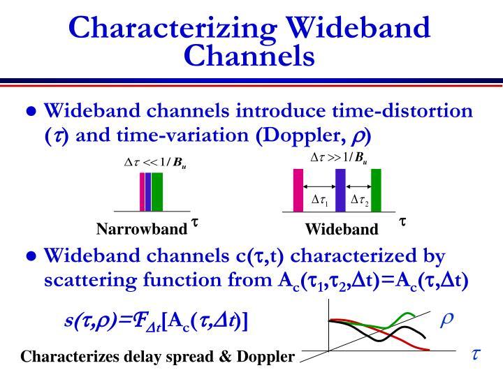 Characterizing wideband channels