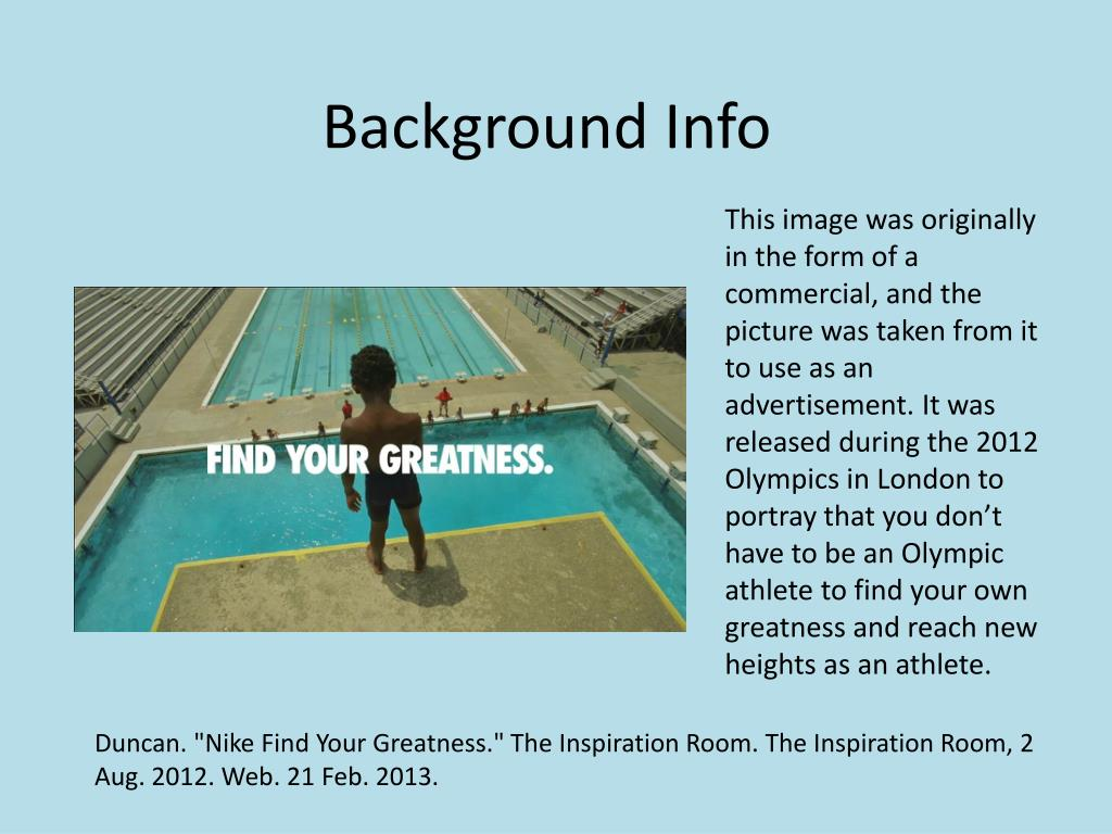 lo mismo Torbellino natural  PPT - Nike- Find Your Greatness PowerPoint Presentation, free download -  ID:1839705