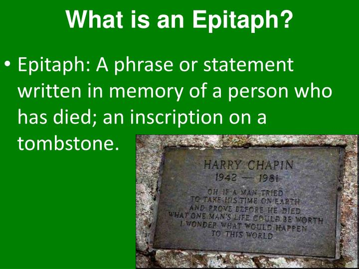 What is an Epitaph?