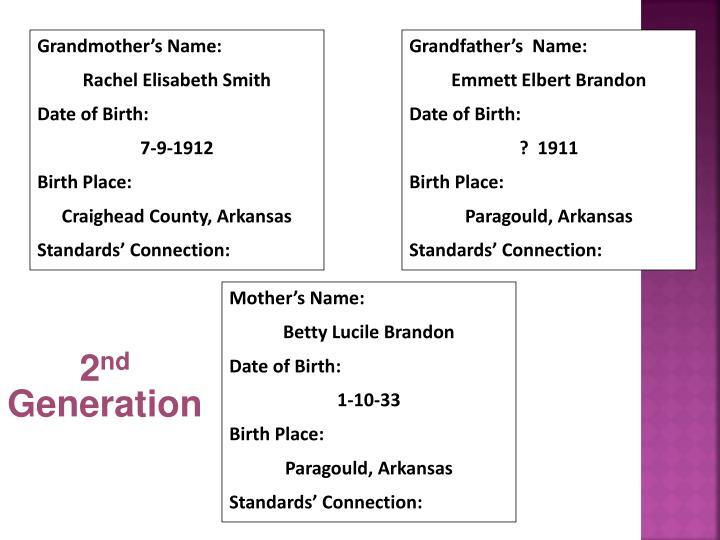 Grandmother's Name: