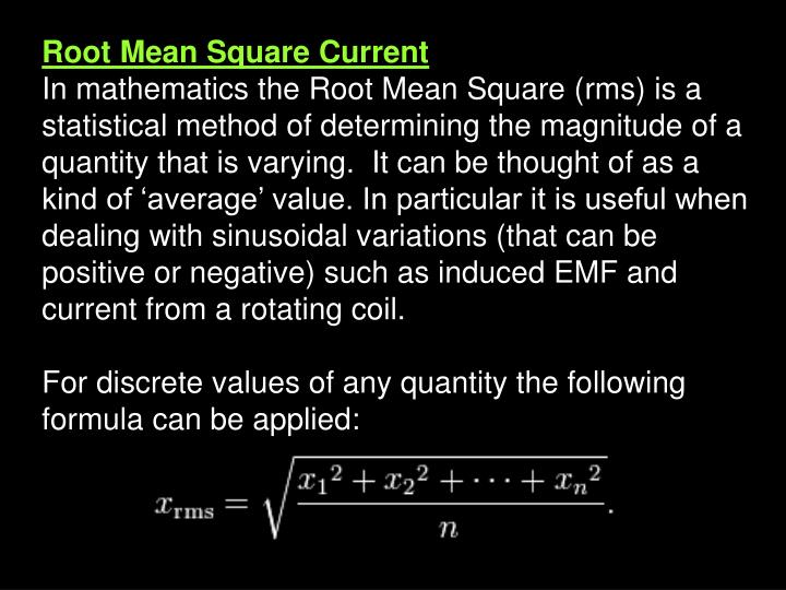 Root Mean Square Current