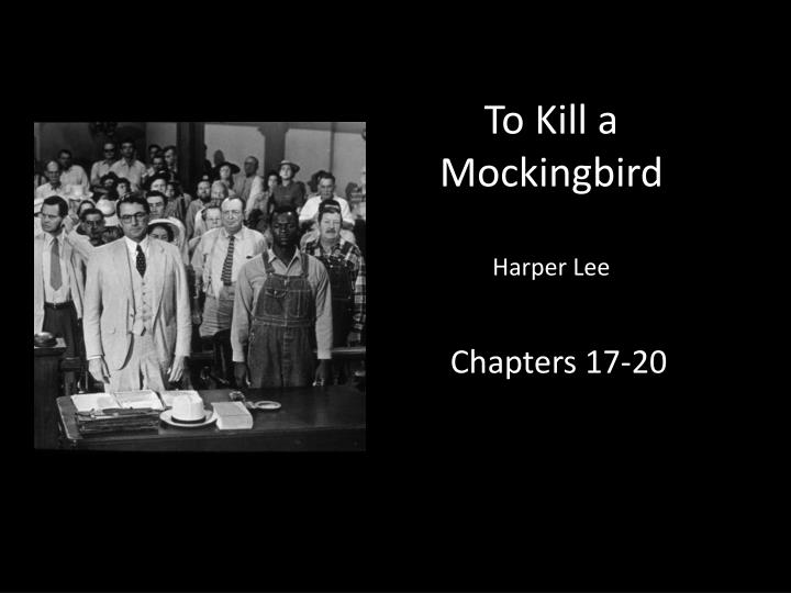 a description of the first five chapters of to kill a mockingbird The first chapter of the novel weaves into the plot the background of the finch household in such a way that it not only provides the reader with an to kill a mockingbird is definitely an excellent novel in that it portrays life and the role of racism in the 1930's  for example, on page 94, atticus says his.