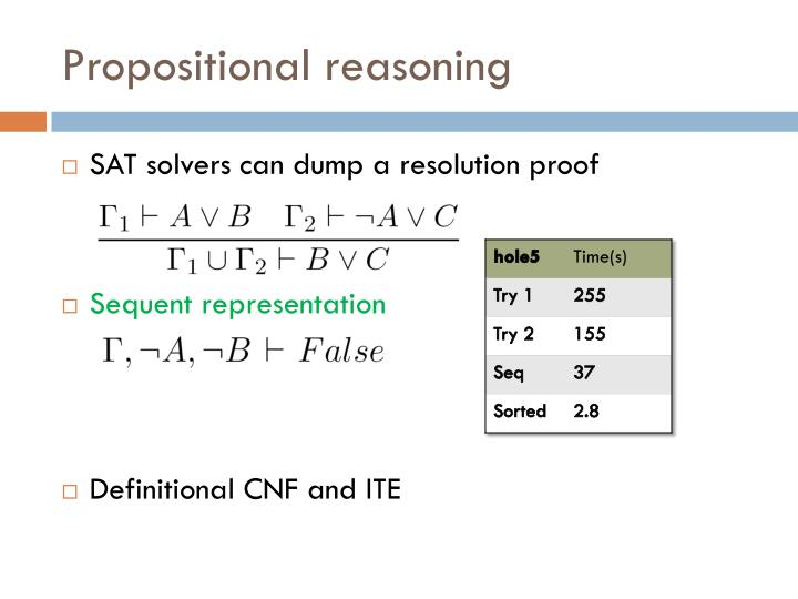 Propositional reasoning